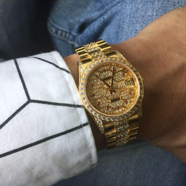 滿天星男款鑽錶(中型)