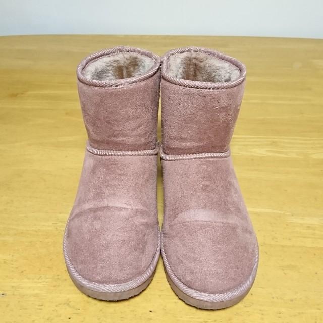 日本購入粉藕色雪靴