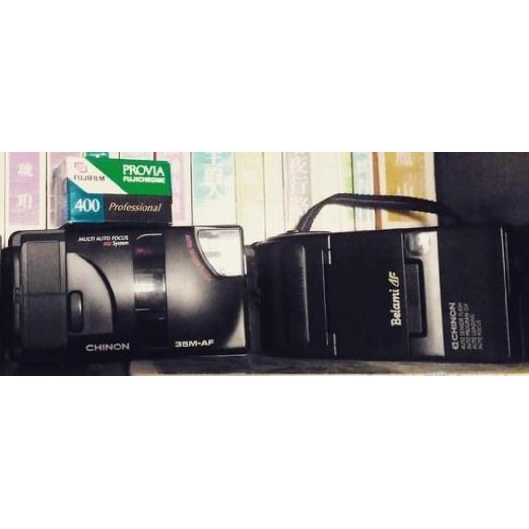 日本帶回 CHINON 隨身底片機 兩台合售+ FUJICHROME PROVIA 400 底片 底片機 傻瓜相機 街拍 隨身 Vintage