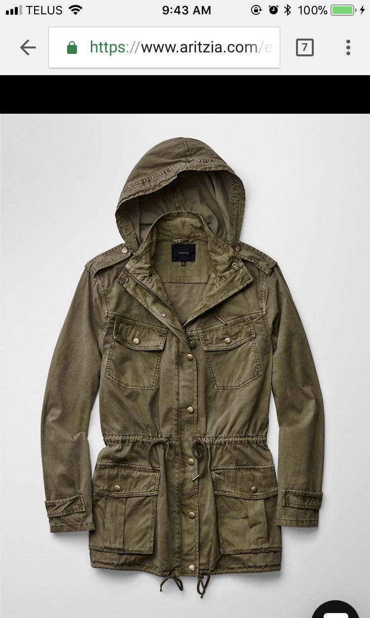 Aritzia military jacket XXS