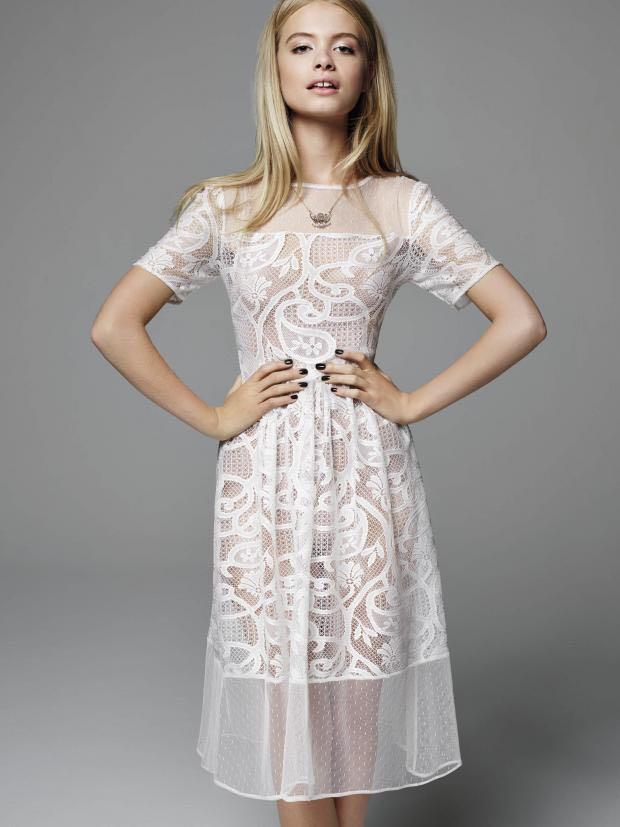 Authentic Miss Selfridge Lace Midi Dress