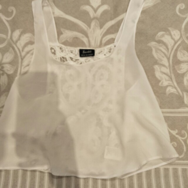 Bardot White Crop Top