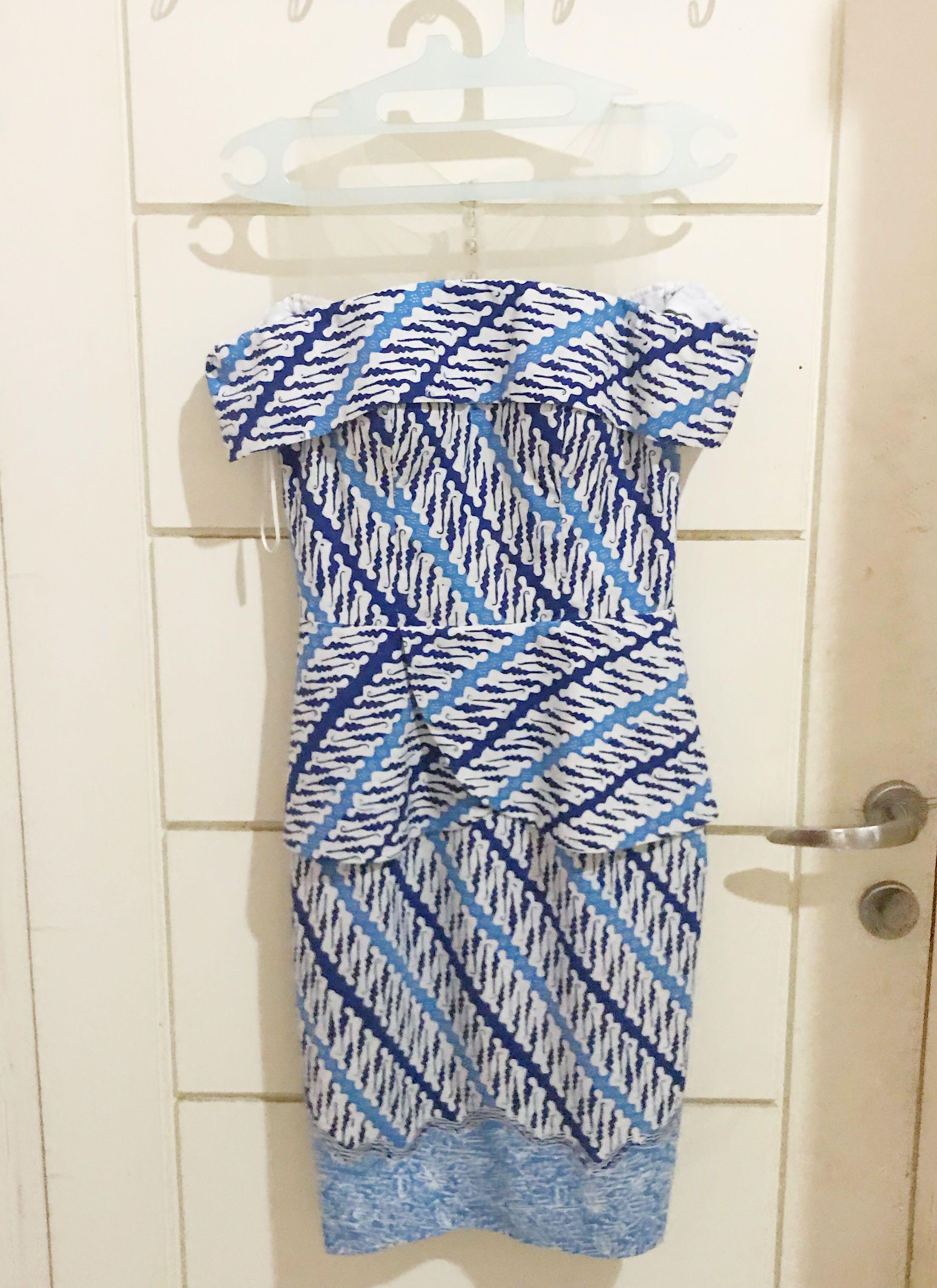 Batik Blue Dress