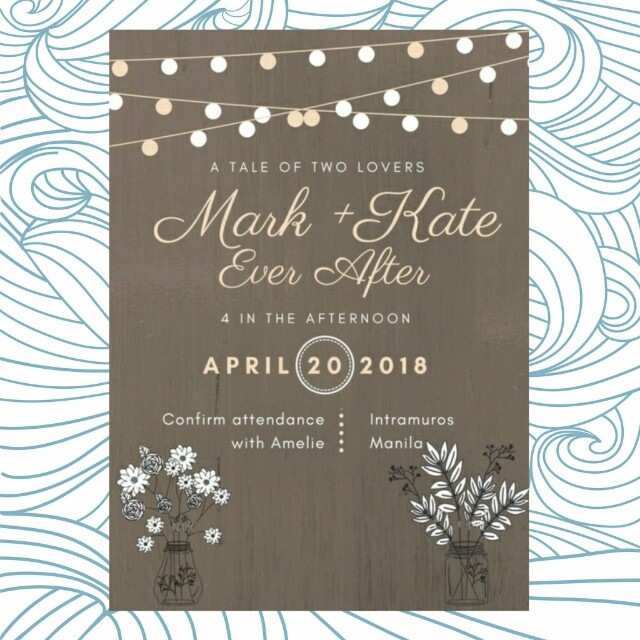 Bohemian Invitation Rustic Wedding Debut 18birthday
