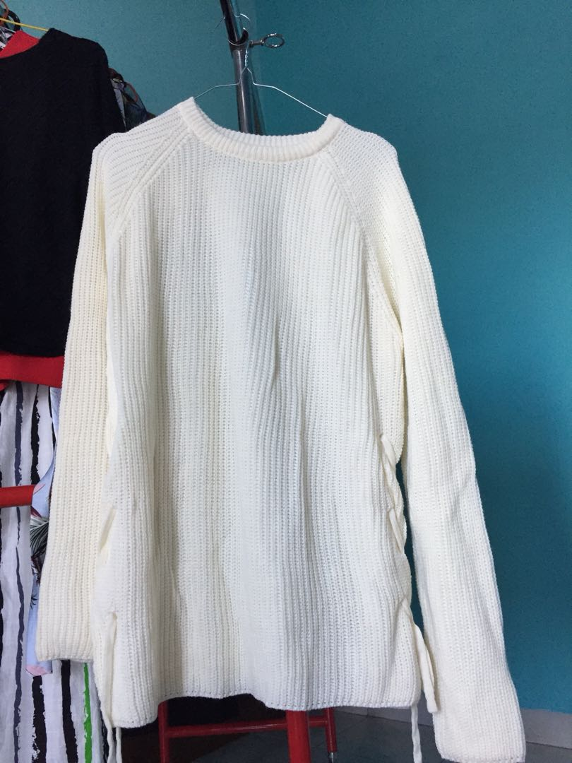 Broken white sweater