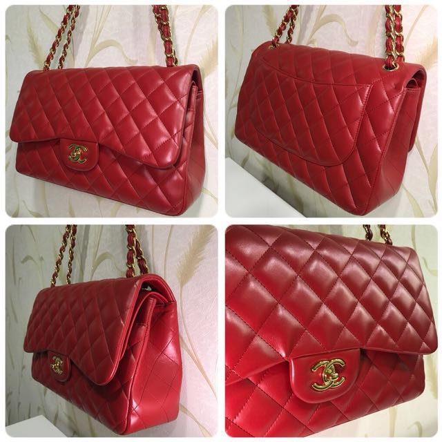 RESERVED. Chanel Classic Jumbo bag (Red)