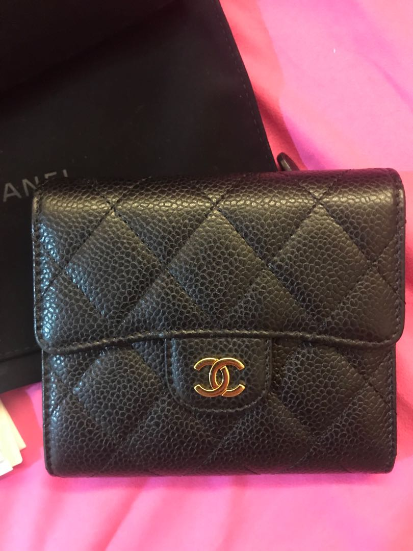 52e1921adff5e5 Chanel flap wallet (small), Luxury, Bags & Wallets on Carousell