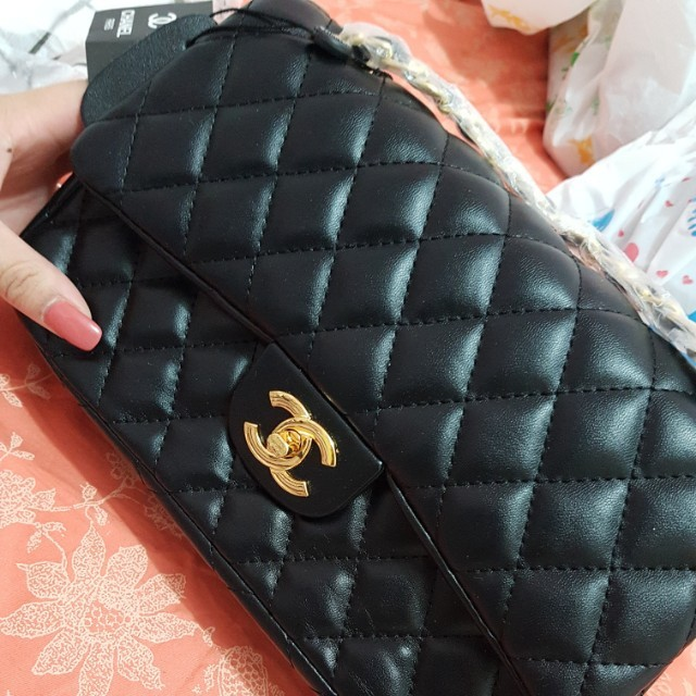 Chanel large quilted flap bag
