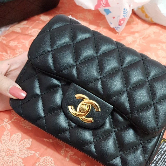 Chanel small square quilted flap bag