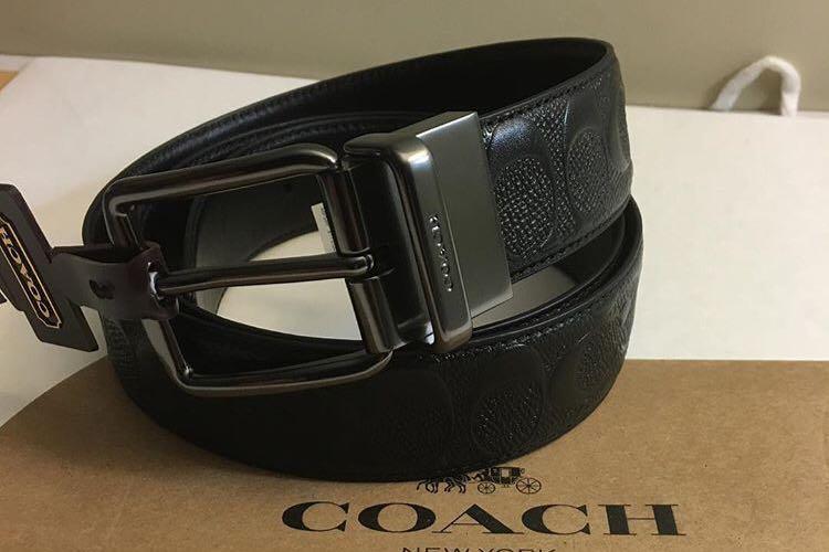 4f73ce298b6f Coach Men Reversible Belt -38mm in black ready stock