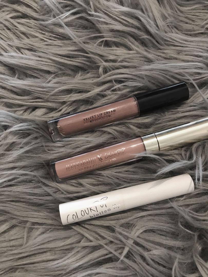 Colourpop and H&M beauty lip products