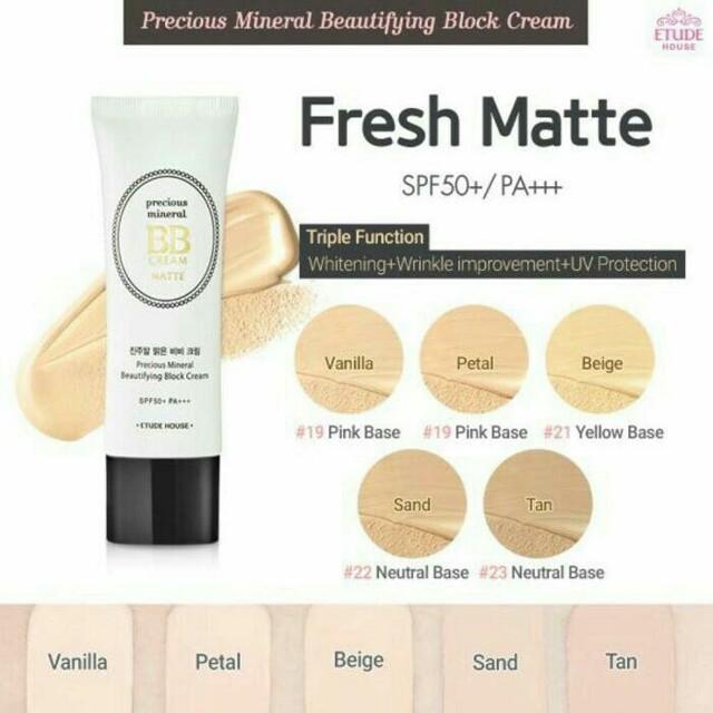 Etude House Precious Mineral Beautifying  Block Cream. Shade: Petal