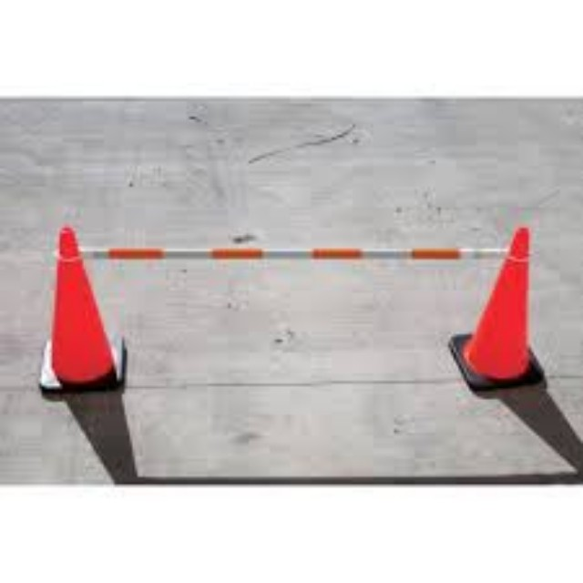 Extendable Safety Cone Bar Red White