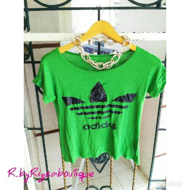 Feara Green TShirt Crop