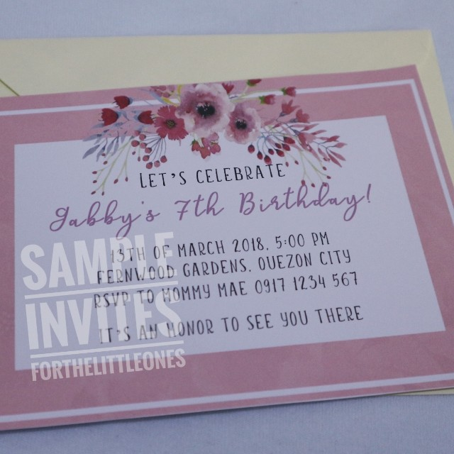 Floral themed invitation card design craft others on carousell photo photo photo stopboris Images