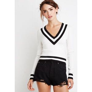 Forever 21 - Striped Varsity Sweater