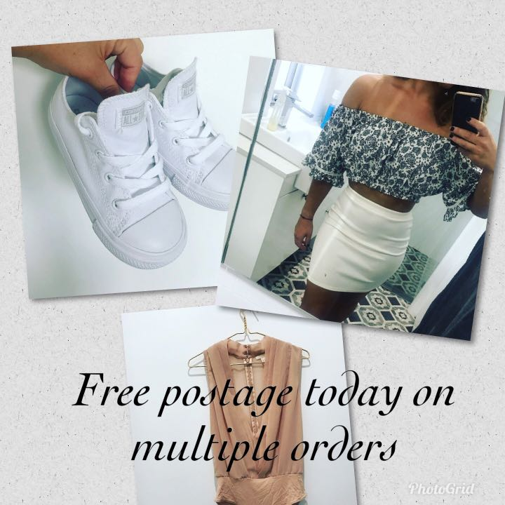 Free postage today on all multiple orders