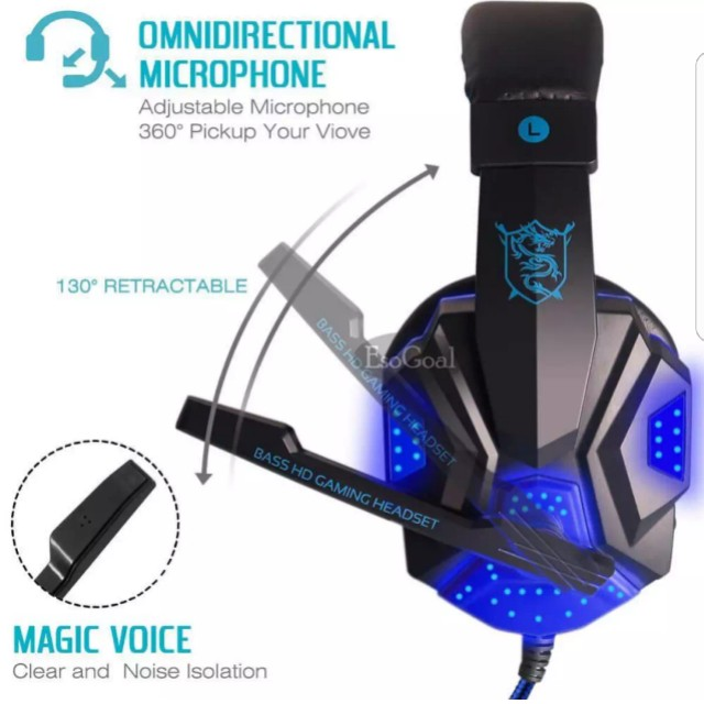 Gaming headphone with microphone