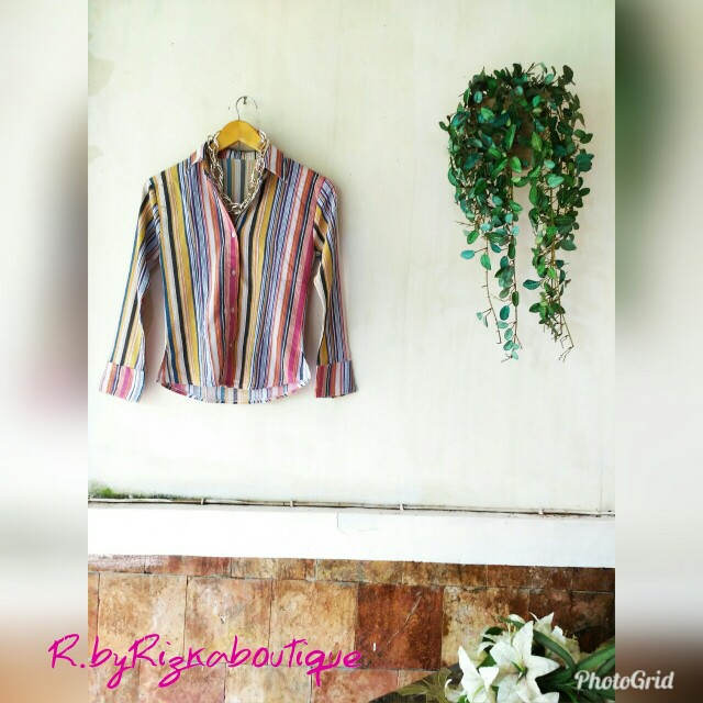 Gendhes Stripe Colorful Shirt
