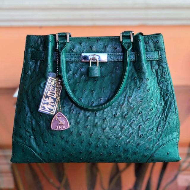 Genuine Ostrich Leather Handbag Made In