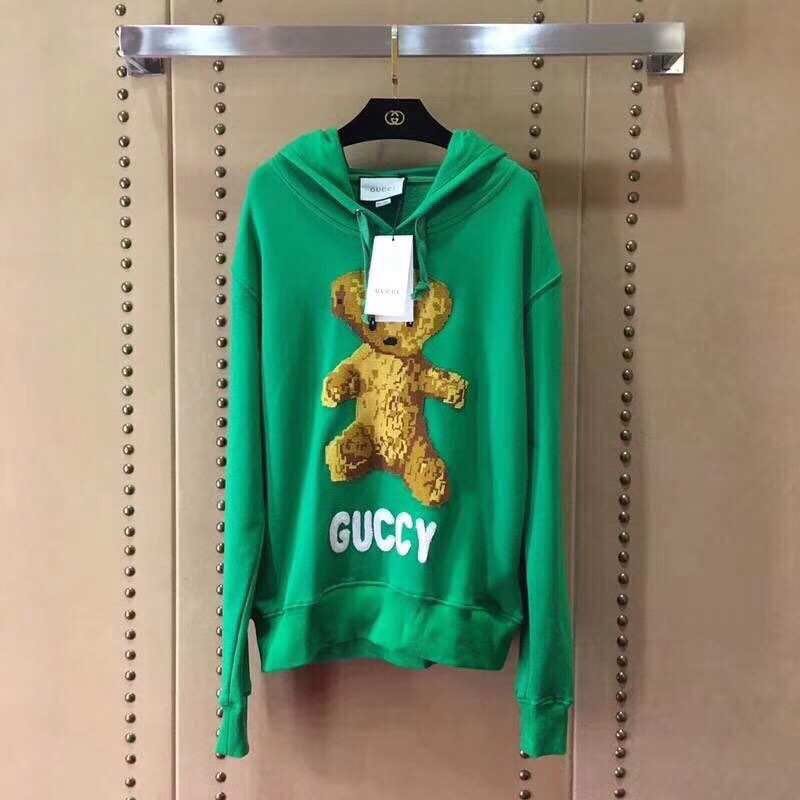 new style 960b0 01367 Gucci 18SS Cub Motif Hoodie