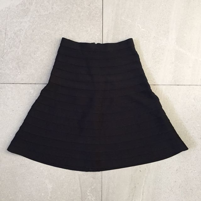 Herve Leger Bandage Black Skirt