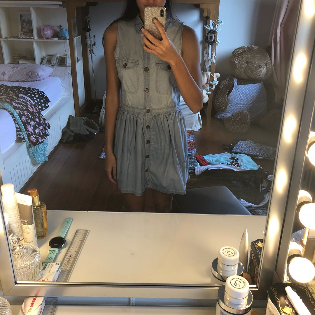 I love Colorbox Denim Dress Button Up