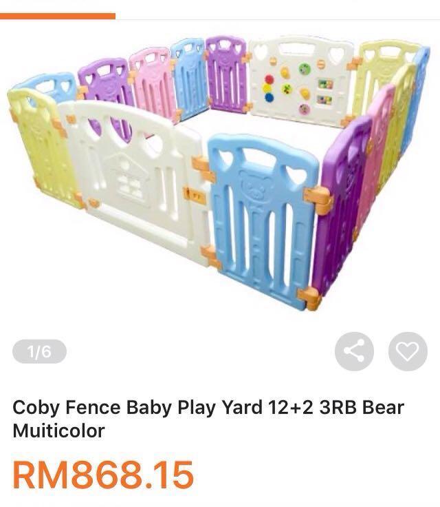 Ikea Big Size 14 Panel Coby Fence Baby Play Yard 12 2 3rb Parklon