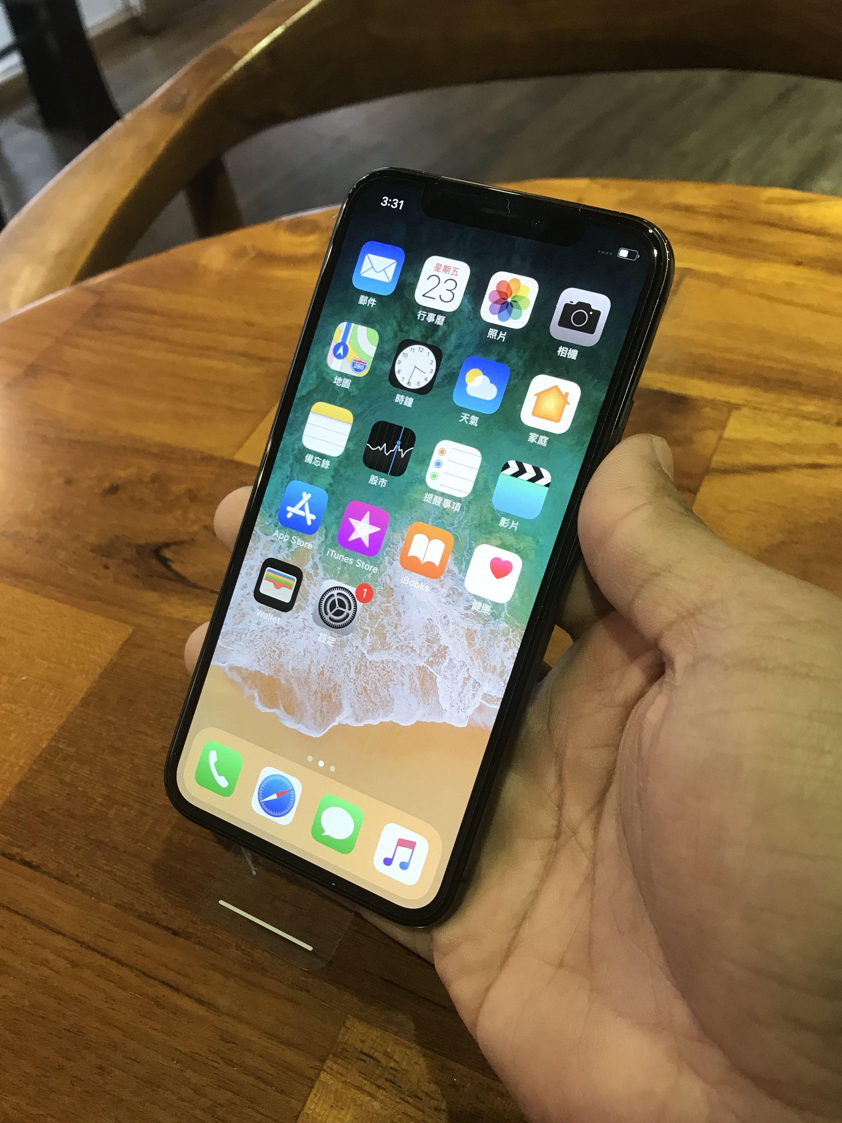 賣iPhone X 256G 灰色,電信保險換回9.9成新,單機,配件全新,保固到2018年11月2號