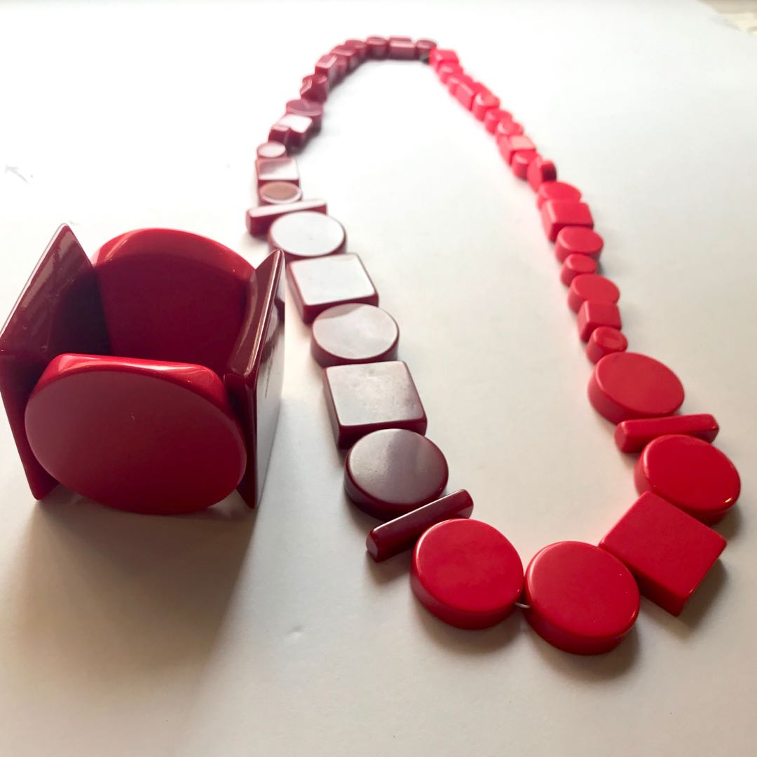 Kae Spade Saturday two tone giant shapes necklace and bracelet