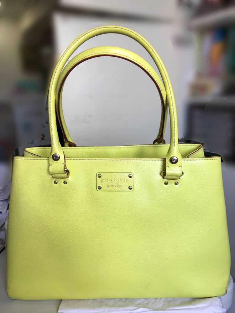 Kate Spade Bag Yellow Green Lime Luxury Bags Wallets On Carou