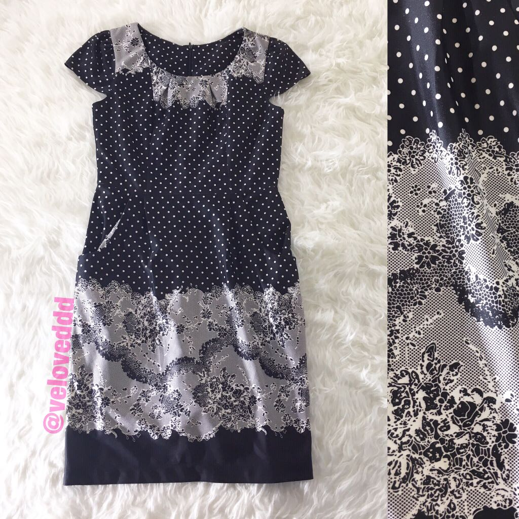 *Korean polka flo dress
