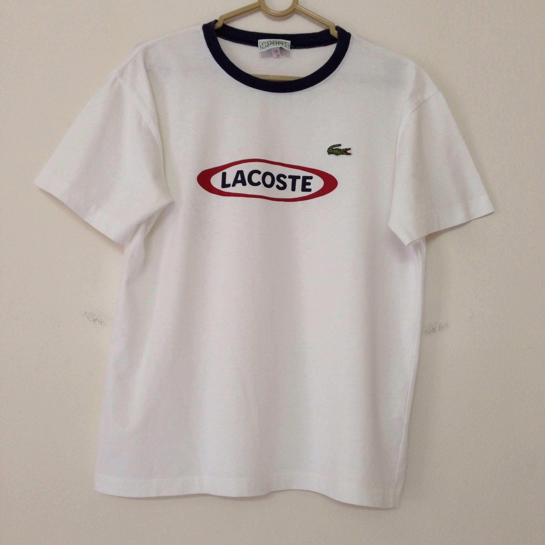 27243ae37 Lacoste Slogan Logo Tee T-shirt Top Women