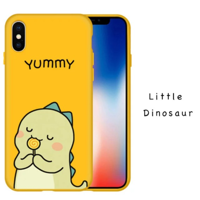 outlet store 6fbf3 8e631 Little Dinosaur iPhone X Case Cute Yellow Dinisaur iPhone Cover