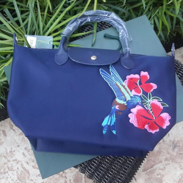 5f081e9a4a9 👜LONGCHAMP BAG WITH PRINT👜, Women s Fashion, Bags   Wallets on ...