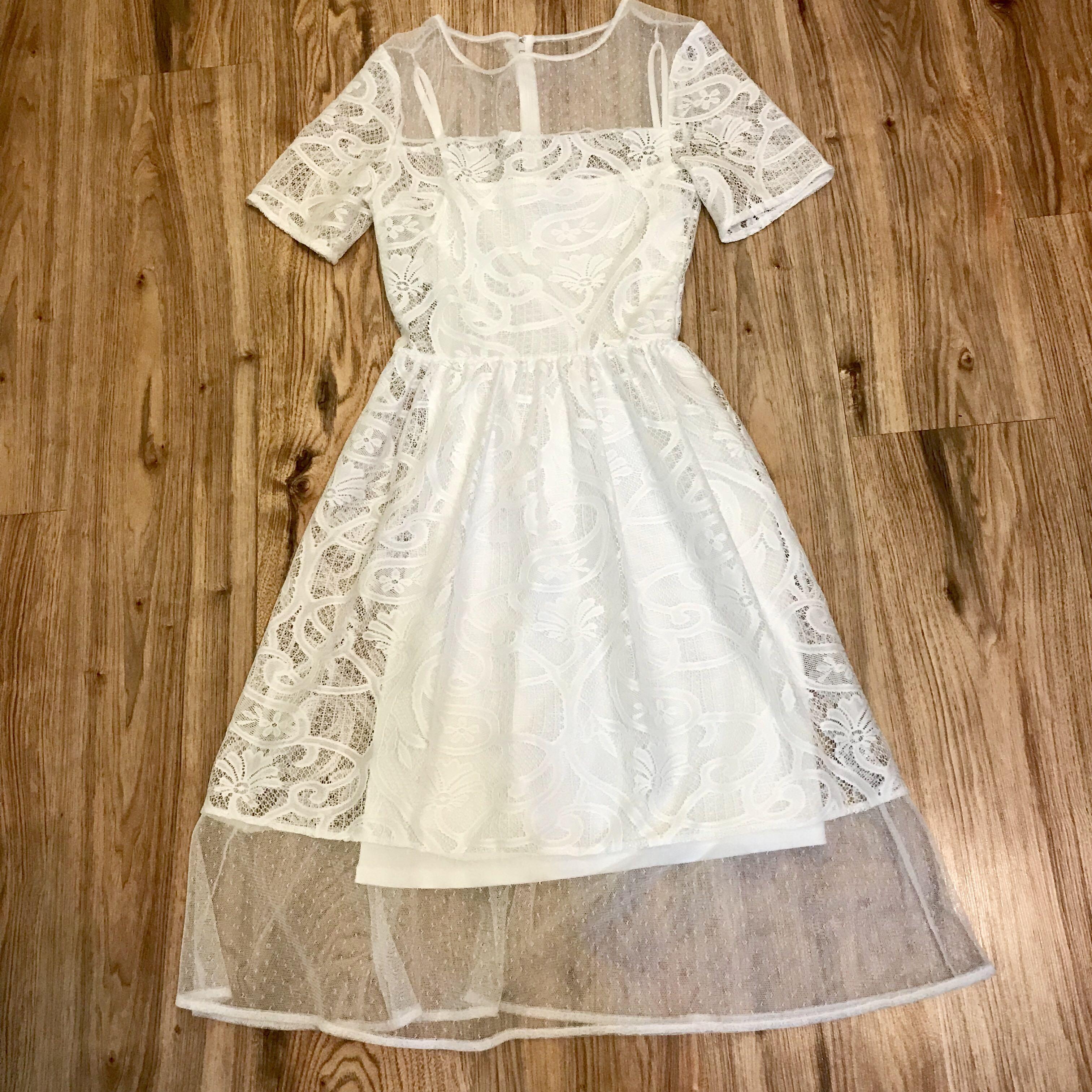 Miss selfridge lace midi dress