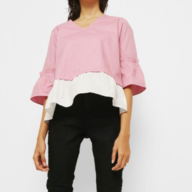 NEW!! REPRICE!! Cotton Ink pink blouse