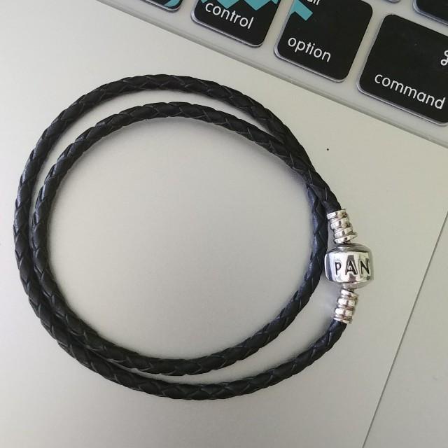 Pandora double leather charm bracelet