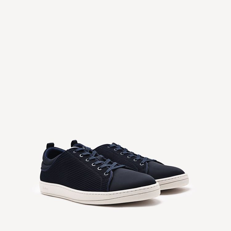 the latest 2630d 53b15 Pedro Navy Textured Lace Up Sneakers Shoes, Mens Fashion, Fo