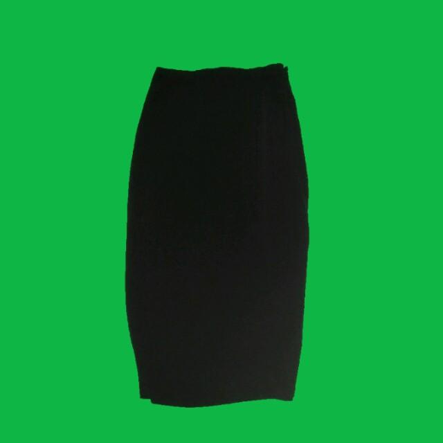 pencil skirt long skirt with slit