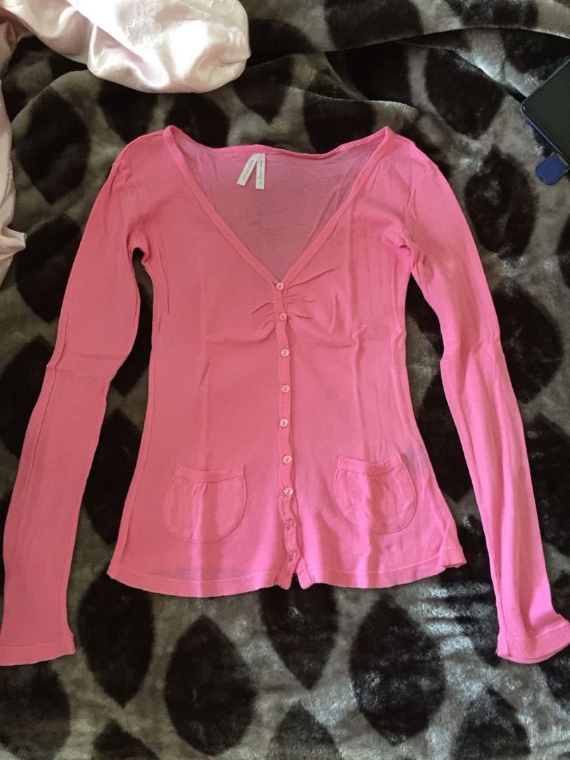 Pink cardigan/top