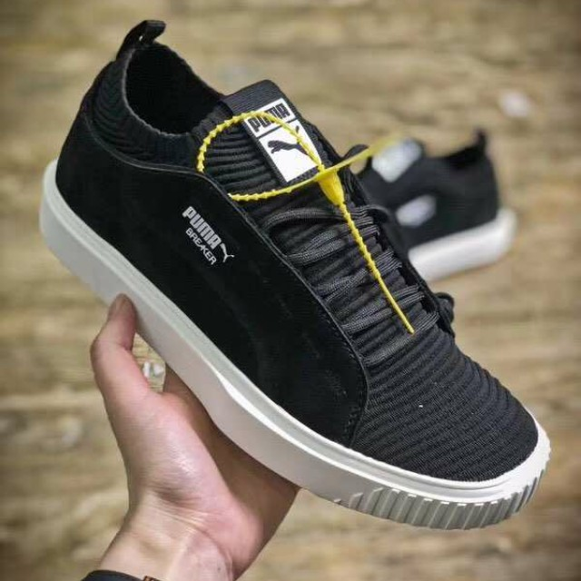 the cheapest new high quality newest Puma Breaker Knit Sunfaded Trainers(Black)
