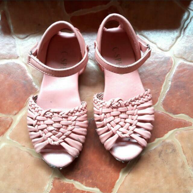 REPRICED! Peach Sandals