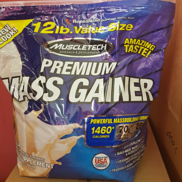 💥(In stock) MUSCLETECH PREMIUM MASS GAINER Vanilla 12 LBS, Bicycles & PMDs, Personal Mobility Devices on Carousell