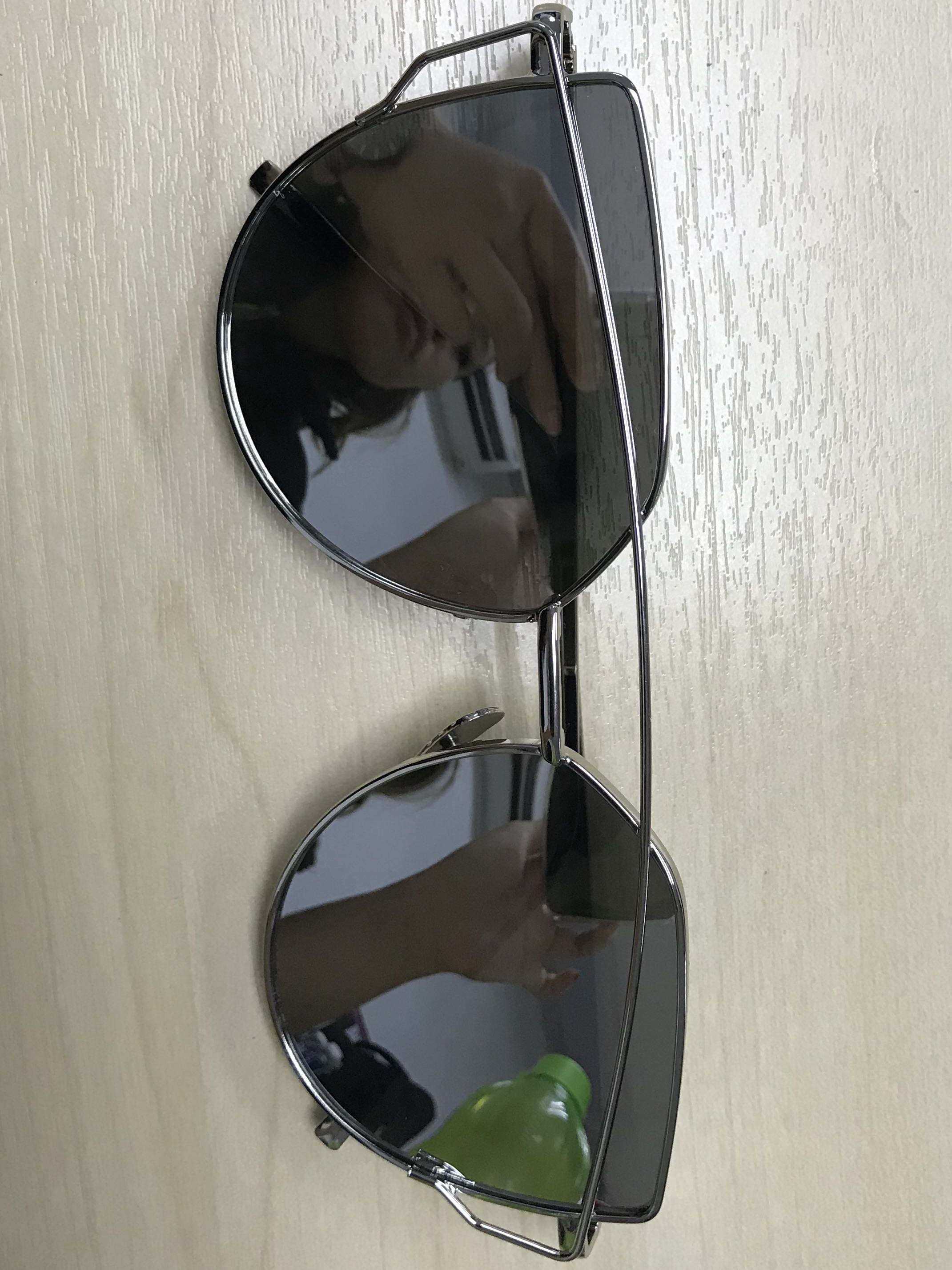 Silver Cat Eyed Sunglasses