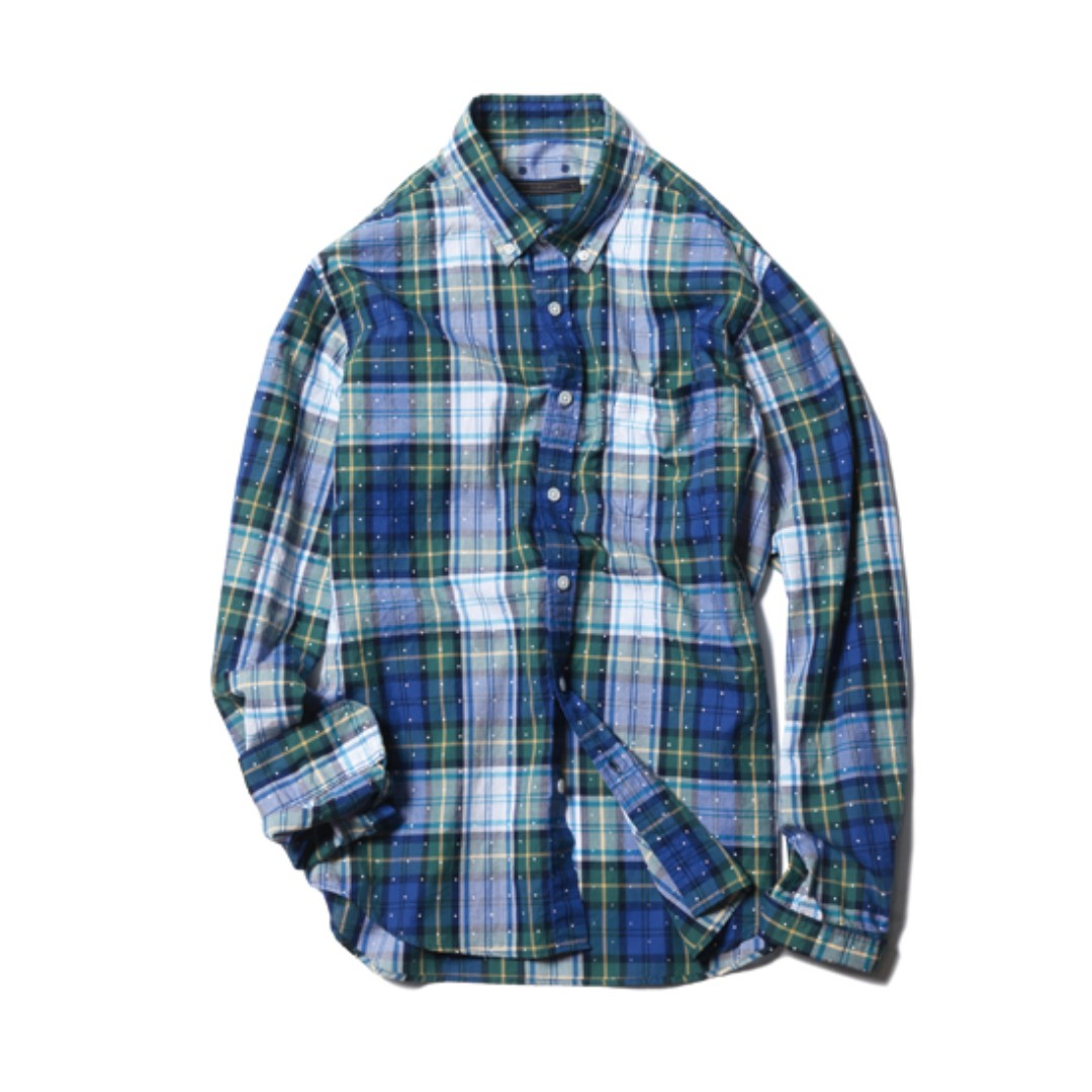 SOPH DOT PRINT CHECK B.D SHIRT