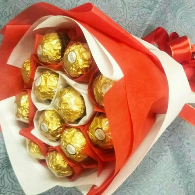 Valentine/Birthday Ferrero chocolate handmade bouquet(Free Delivery)