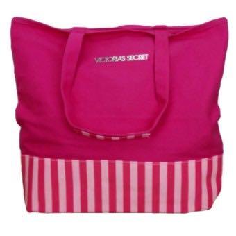 Victoria Secret Canvass Tote pink bag