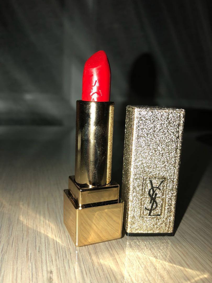 YSL Red-Pink Lipstick