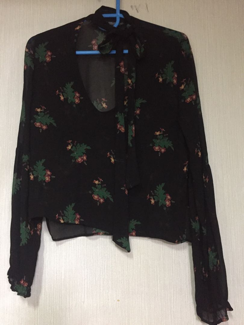Zara blouse chiffon